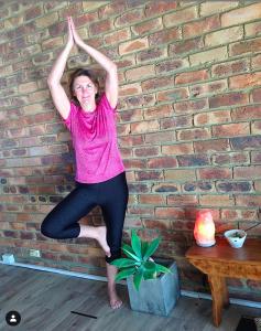 TriBalance North Brisbane yoga student Virginia White tree pose