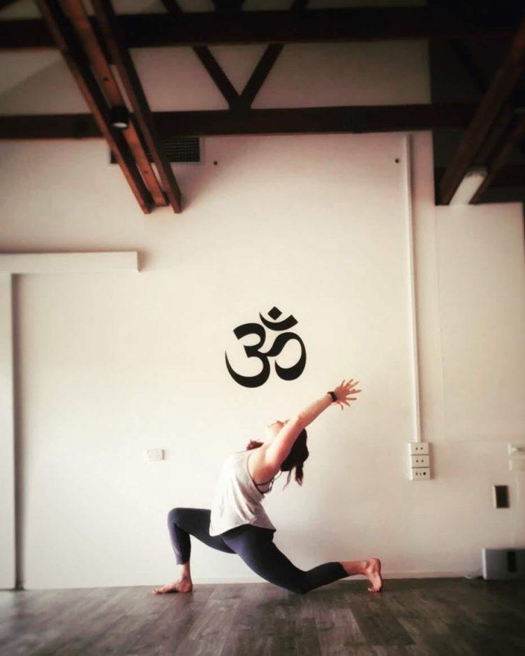 Yoga teacher spotlight Carly Ponter lunge pose tribalance north Brisbane