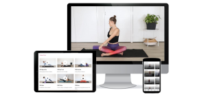 TriBalance TV devices view displaying classes on mobile, ipad and desktop