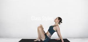 Yoga teacher Cathy Aganoff sitting on mat in figure 4 pose at TriBalance North Brisbane