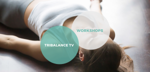 Yoga student lying in savasana doing tribalance yoga workshop in North Brisbane.